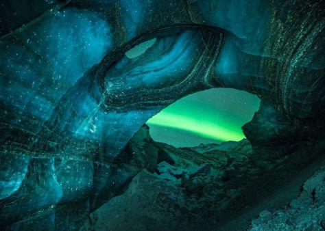 Ice Cave Aurora